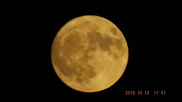 2019/10/13(日)のお月様