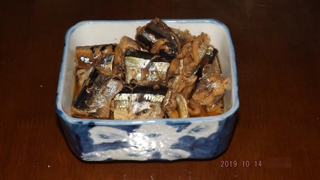 2019/10/14(月・祝)・秋刀魚の煮付け