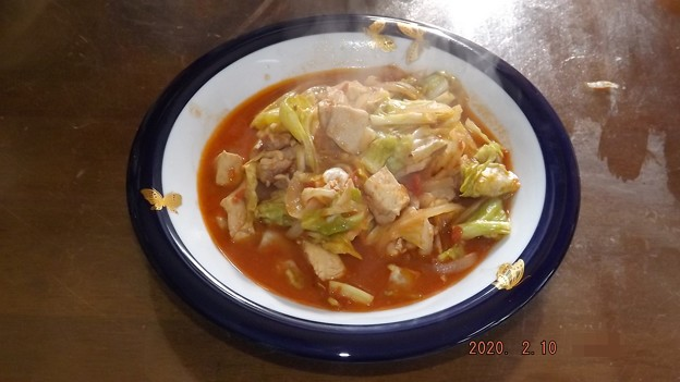 2020/02/10(月)・キャベツと鶏肉のトマト煮