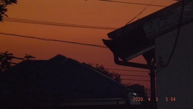 2020/04/03(金)・八千代市の朝焼け