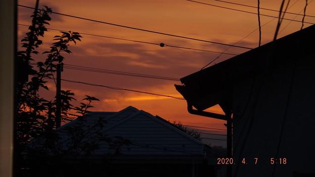 2020/04/07(火)・朝焼け