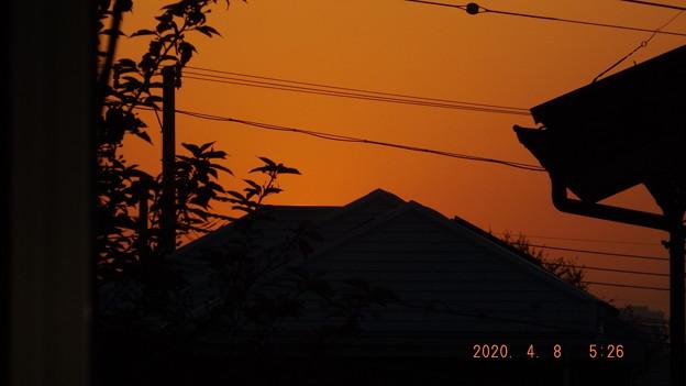 2020/04/08(水)・八千代市の朝焼け