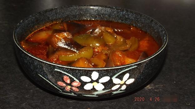 2020/04/26(日)・茄子とピーマンのケチャップ煮