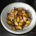 2020/06/08(月)・鶏肉とさつま芋の甘辛ネギ炒め
