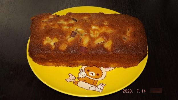 2020/07/14(火)・おやつに☆さつまいものパウンドケーキ