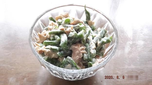 2020/08/09(日)・インゲンとツナのマヨ和えサラダ