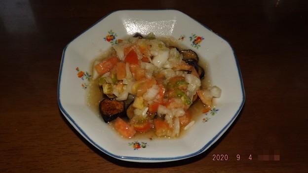 2020/09/04(金)・茄子のトマトマリネ
