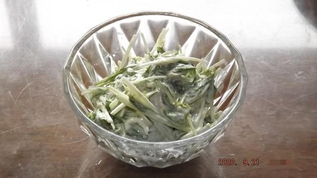 2020/09/21(月・祝)・水菜のツナマヨ和え