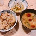 写真: 1113_キノコご飯となめこ汁