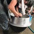 0526_釜や桶を洗って来年に備えます