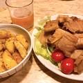 Photos: 1006_夕飯のチャーシューとポテト