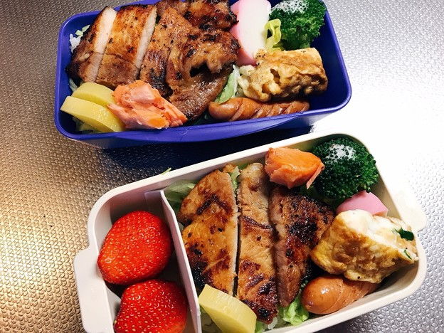Photos: 0321_チャリ弁豚ロース味付け