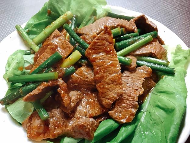Photos: 1024_牛肉とニンニクの芽