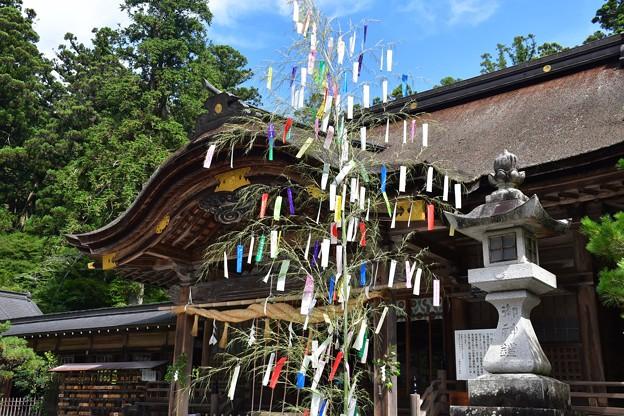 七夕の日の小國神社本殿