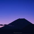 Photos: 地球照・三日月・水星・土星・富士山
