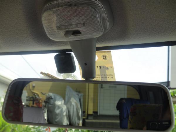 交通安全のお守りを少し下に移動してアンテナを取付け