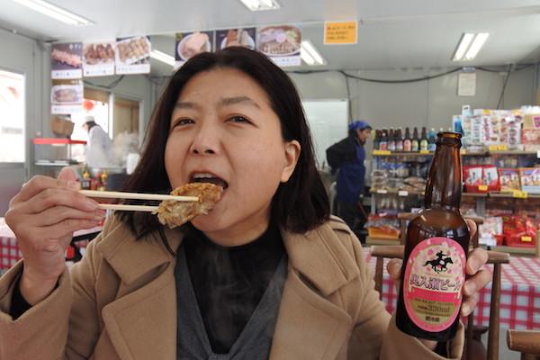 普段はビールを飲まない家内も、桜ラベルの奥入瀬ビールは美味しく飲み干しました