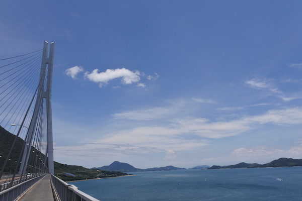 広島県と愛媛県の県境。