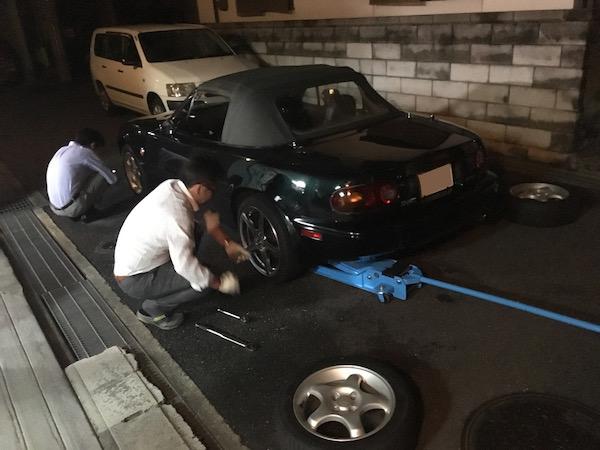 タイヤを交換