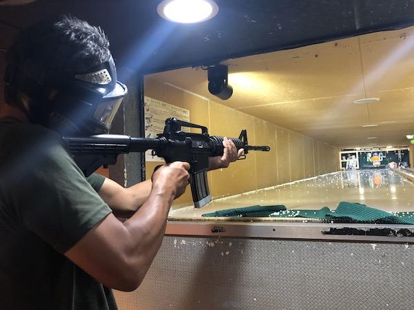 長い銃をレンタルして使ってみる