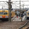 写真: 三岐線に西武塗装車登場!