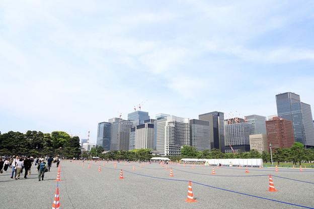 5月3日の皇居 皇居前広場1