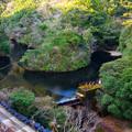 新しいダムが出来ると水没する古い小さなダム