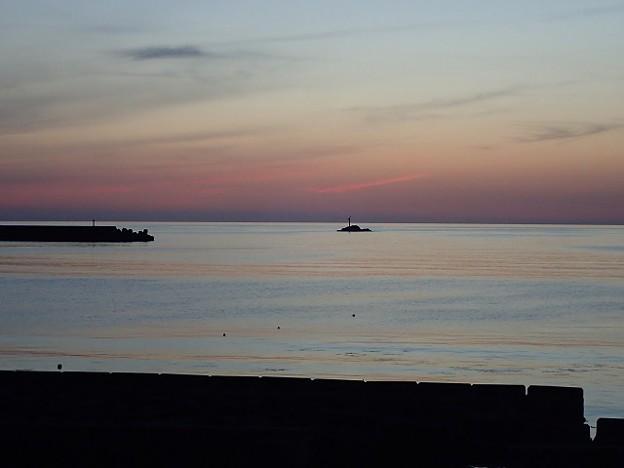 写真: 29 GW 山形 由良海岸の夕焼け 4
