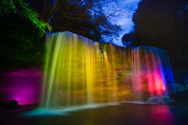 鍋ヶ滝ライトアップ♪2
