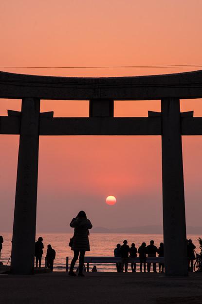 宮地浜の夕日♪