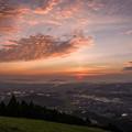 米の山展望台からの夕焼け♪