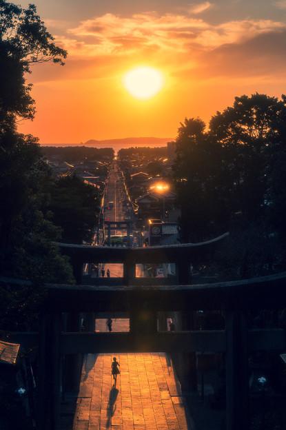 宮地嶽神社 光の道♪