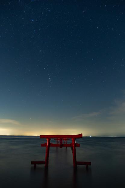 佐賀県太良町魚神社の海中鳥居♪