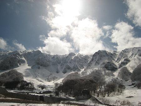 元谷から見る大山北壁2
