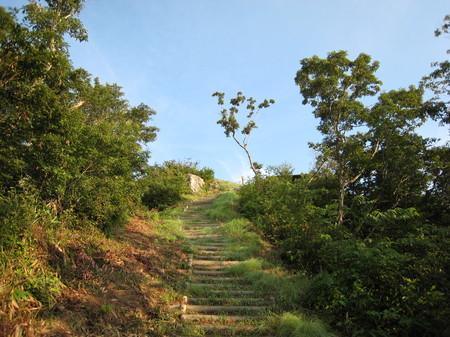 最後の急な階段