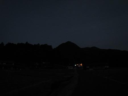 夜明け前の龍頭山