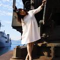 潜水艦基地にて