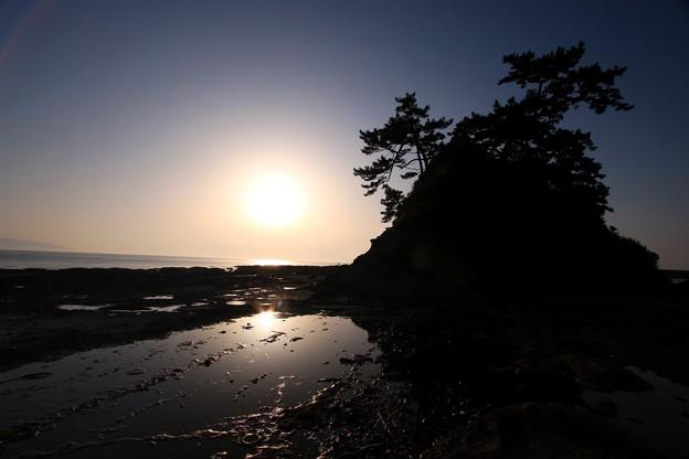洞山の夕景