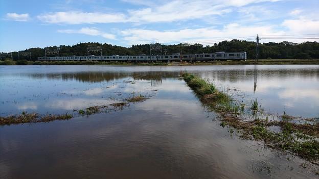Photos: 千葉県豪雨後の亀崎踏切