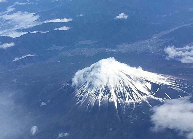 上から富士山