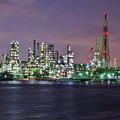 新磯子の工場夜景