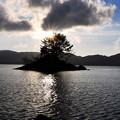 檜原湖の夕景