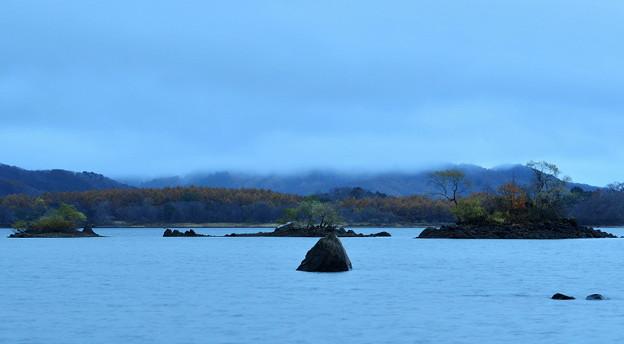 檜原湖の朝