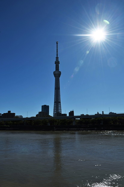 台風一過の隅田川