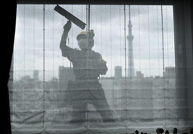 Photos: 窓拭き