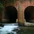 写真: 宮田川の眼鏡橋