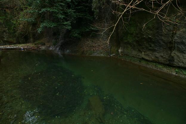 小豆洗の淵 鮎川