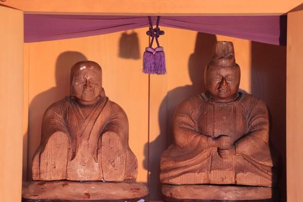 Photos: 664 万年太夫 夫婦座像 (胎内像)