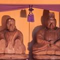 748 万年太夫 夫婦座像 (胎内像)