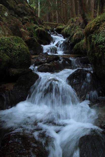 466 深萩川の渓流瀑